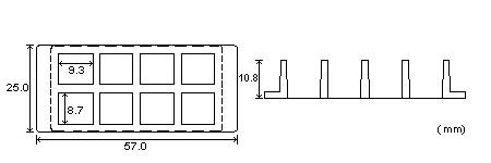 8孔腔室蓋玻片尺寸圖